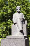 Rudolfs Blaumanis Sculpture in Riga Royalty Free Stock Photo