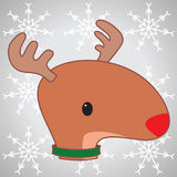 Rudolph. The red nosed reindeer with background Stock Photography