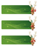 Rudolph Banners. Little Rudolphs with festive banners Royalty Free Stock Image