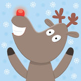 Rudolph Christmas Card Stock Photography
