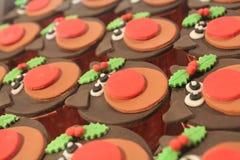 Rudolph Cupcakes Royaltyfri Bild
