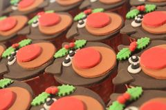 Rudolph Cupcakes. Many Rudolph the Reindeer cupcakes Royalty Free Stock Image