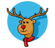 Rudolph Cute Head illustration de vecteur