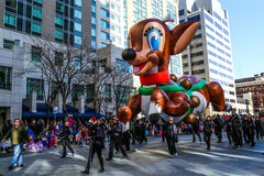 Rudolph Czerwony nosa renifera balon obrazy royalty free