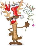 Rudolph de rode lijn van de neuswas stock illustratie