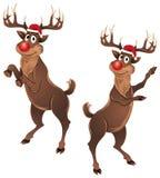 Rudolph el baile del reno ilustración del vector
