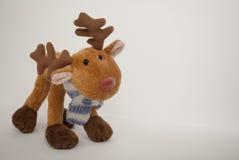 Rudolph el juguete suave de la nariz roja Imágenes de archivo libres de regalías