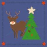 Rudolph el reno con la nariz roja Imágenes de archivo libres de regalías