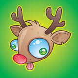 Rudolph el reno con la nariz roja Imagen de archivo libre de regalías