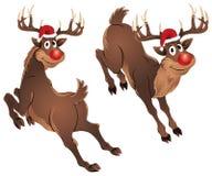 Rudolph el salto del reno stock de ilustración