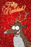 Rudolph - ¡ Feliz Navidad ! (Espagnol) illustration de vecteur