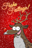 Rudolph - Frohe Festtage! (German) Royalty Free Stock Images