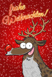 Rudolph - frohe Weihnachten! (German) Stock Images