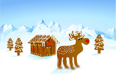 Rudolph gingerbread Stock Photography