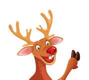 Rudolph Happy Christmas Reindeer Royalty Free Stock Photo
