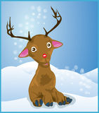 Rudolph het Rode Rendier van de Neus Vector Illustratie
