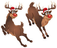 Rudolph Het Springen van het Rendier stock illustratie