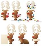 Rudolph i handling stock illustrationer