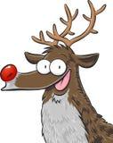 Rudolph, la renna col naso rosso Fotografie Stock