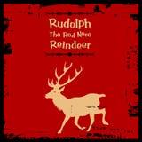 Rudolph la renna rossa del radiatore anteriore Fotografie Stock Libere da Diritti