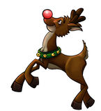 Rudolph le renne rouge de nez Photos libres de droits