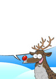 Rudolph - Letter paper. Background / Letter paper with a vector image of Rudolph, the red-nosed reindeer Royalty Free Stock Photo
