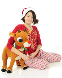 Rudolph-Loving Teen Stock Photos