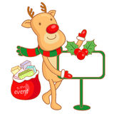 Rudolph mascot the event activity Stock Photo