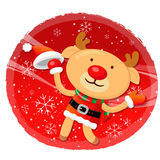 Rudolph mascot the event activity Royalty Free Stock Image