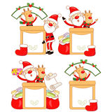 Rudolph mascot the event activity Royalty Free Stock Photos