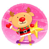 Rudolph mascot the event activity Stock Photos
