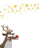 Rudolph med stjärnor stock illustrationer