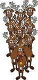 Rudolph przyjaciół royalty ilustracja