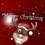 Rudolph Red Nose Happy Christmas Fotos de archivo