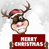 Rudolph. Red Nose Happy Christmas Abstract Creative Design Stock Photo