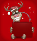 Rudolph Red Nose Happy Christmas. Abstract creative image Royalty Free Stock Photography