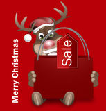 Rudolph Red Nose Happy Christmas. Creative Graphic Design Royalty Free Stock Photos