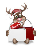Rudolph Red Nose Happy Christmas. Creative Graphic Design Stock Photography