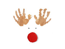 Rudolph the red nose reindeer christmas card Royalty Free Stock Photos