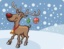 Rudolph the red-nosed reindeer. Christmas cartoon style vector illustration: easy-edit layered vector EPS10 file scalable to any size without quality loss Royalty Free Stock Photos
