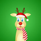 Rudolph the red nosed reindeer Stock Image