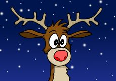 Rudolph the reindeer. Comic Illustration done with PC Royalty Free Stock Images