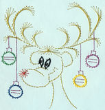 Rudolph the reindeer Stock Images