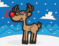 Rudolph Reindeer Royalty Free Stock Photo