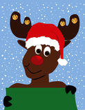 Rudolph Reindeer Background stock images