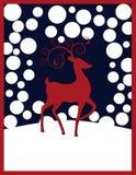 Rudolph Reindeer Christmas Background Stock Image