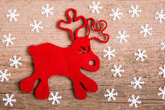 Rudolph reindeer christmas card Royalty Free Stock Image