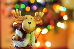 Rudolph the reindeer on colorful background Royalty Free Stock Photos