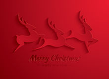 Rudolph Reindeer. Greeting Card. Vector paper graphic of Rudolph Reindeer Royalty Free Stock Photo