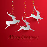 Rudolph Reindeer. Greeting Card. Royalty Free Stock Images
